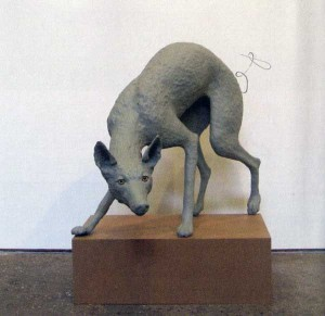 Michael Joo, 'Untitled (Coyote) #19,' 2002. Plasticine, medex, polyurethane foam & wire. 81.3 x 71.1 x 64.1cm