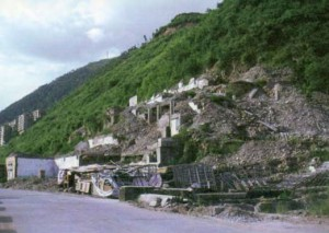 Digital images taken by Ji in 2002 for source material in different areas near Three Gorges Dam.  All of the buildings in these photographs are underwater today.