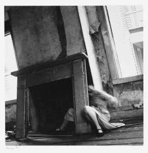 Francesca Woodman, House #4, Providence, Rhode Island, 1976, Gelatin silver print, 14.6 x 14.6 cm, Courtesy George and Betty Woodman , © 2012 George and Betty Woodman.