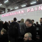 'Scandanavian Pain' over the Armory Show bar by Ragnar Kjartansson